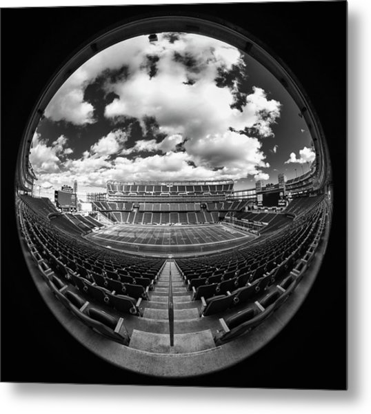 Gillette Stadium Black And White Metal Print