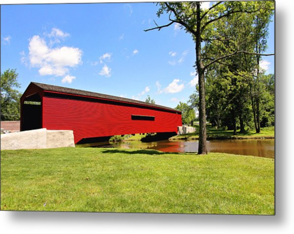 Gilpin's Falls Covered Bridge Metal Print