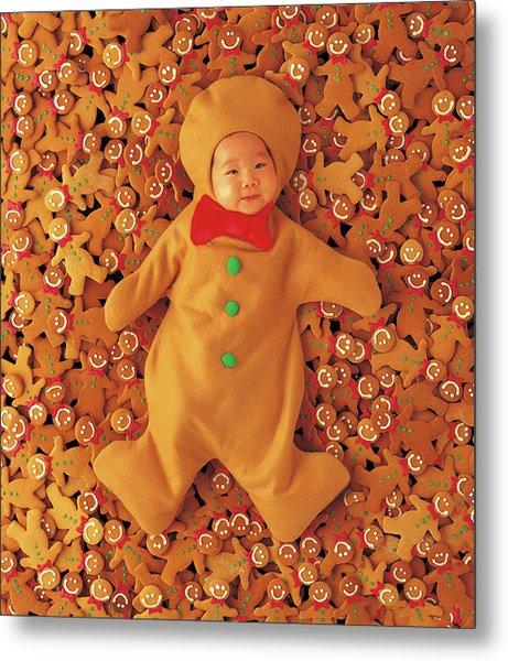 Gingerbread Baby Metal Print