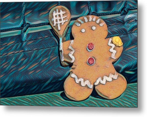 Metal Print featuring the photograph Gingerbread Tennis Girl Remix by Dan McManus