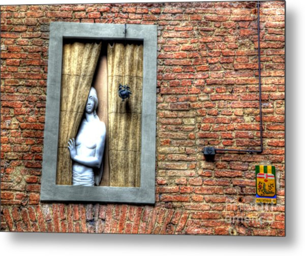 Girl At The Window Metal Print by Clint Hudson