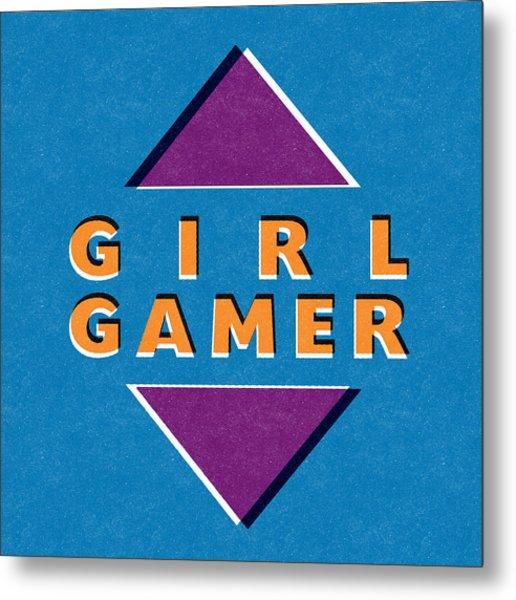 Girl Gamer Metal Print