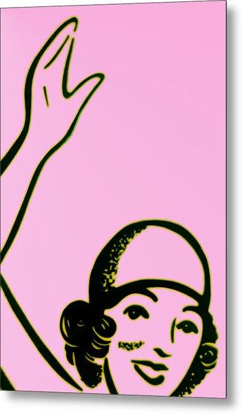 Girl In Pink Metal Print by John Gusky