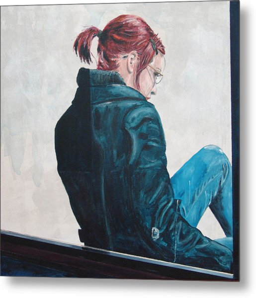 Girl In The Window-sfai Metal Print by Kevin Callahan