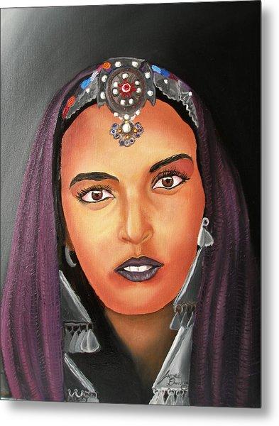 Girl Of Morocco Metal Print by Dunbar's Modern Art