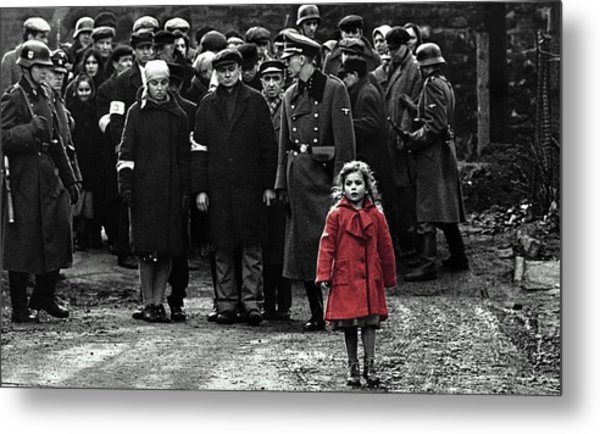 Girl With Red Coat Publicity Photo Schindlers List 1993 Metal Print
