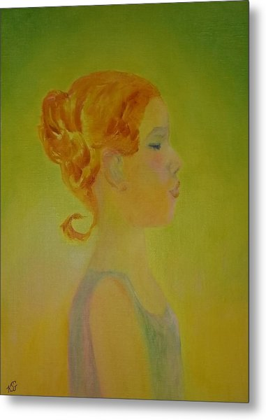 The Girl With The Curl Metal Print