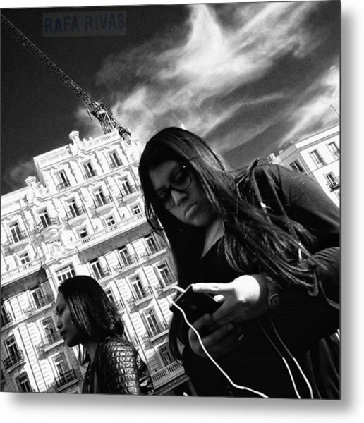 #girl #woman #people #instapeople Metal Print