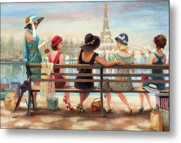 Metal Print featuring the painting Girls Day Out by Steve Henderson
