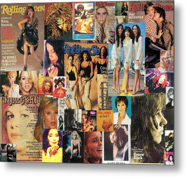 Girls Of Pop And Rock 1 Collage Metal Print