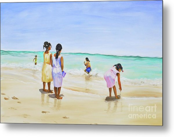 Girls On The Beach Metal Print