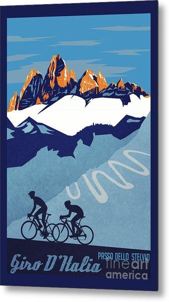 Giro D'italia Cycling Poster Metal Print