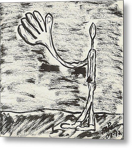 Give Me A Hand Metal Print