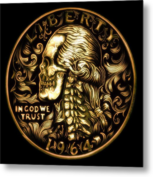Give Me Liberty Or Give Me Death Metal Print