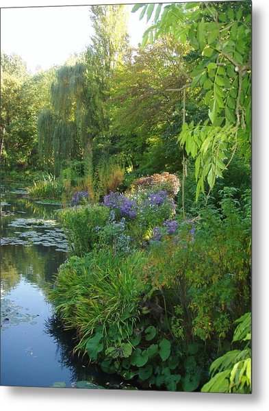 Giverny Vi Metal Print by Wendy Uvino