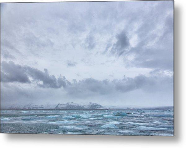 Glacial Lagoon Iceland Metal Print