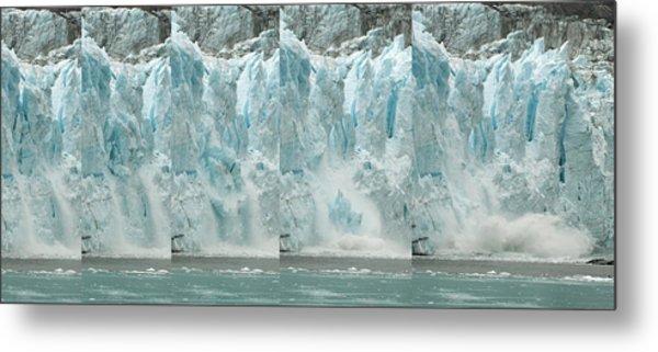 Glacier Calving Sequence 2 V1 Metal Print