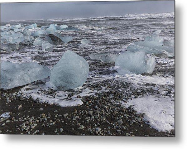 Glacier Ice 3 Metal Print