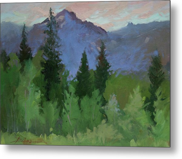 Glacier Nat'l Park - Plein Air -  Rising Wolf Ranch Metal Print