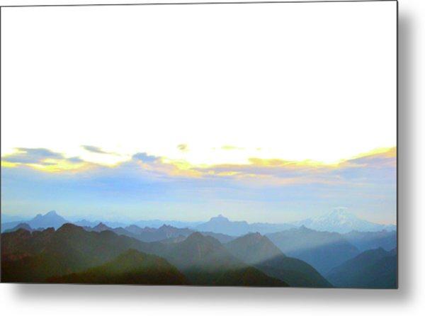 Glacier Peak At Sunrise Metal Print