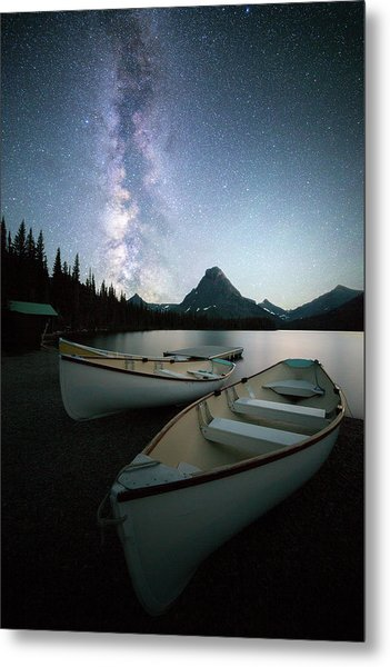 Glacier's Midnight Dream // Two Medicine Lake, Glacier National Park  Metal Print
