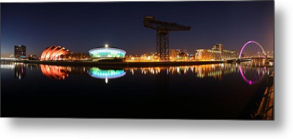 Glasgow Clyde Panorama Metal Print