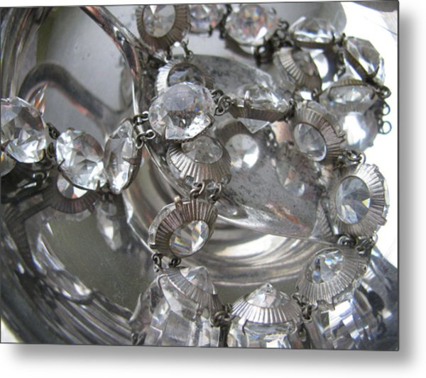 Glass And Silver Metal Print by Lindie Racz