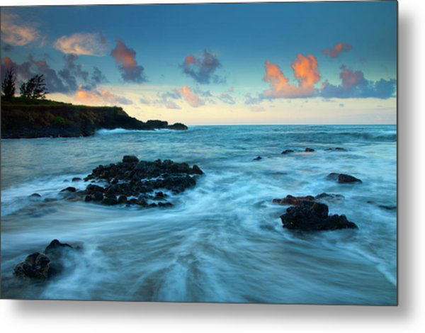 Glass Beach Dawn Metal Print