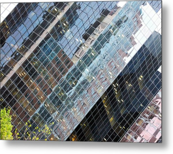 Glass Buildings 4 Metal Print