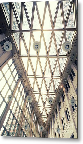 glass ceiling in hall of  new State office  Metal Print