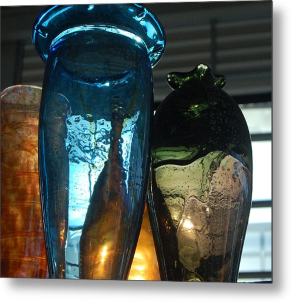 Glass Colors Metal Print by Jean Booth