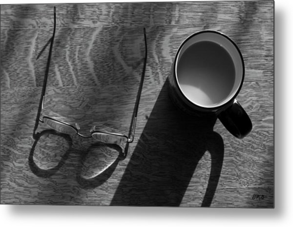 Glasses And Coffee Mug Metal Print