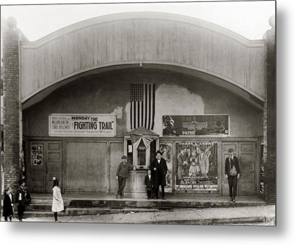Glen Lyon Pa. Family Theatre Early 1900s Metal Print