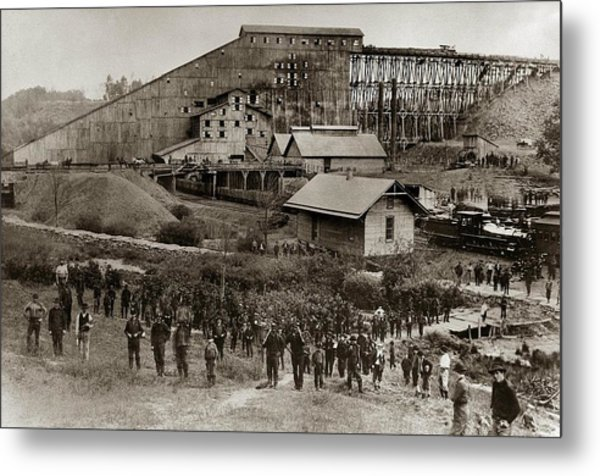 Glen Lyon Pa Susquehanna Coal Co Breaker Late 1800s Metal Print