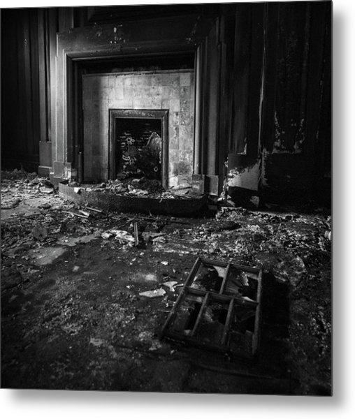 Old Fireplace Metal Print