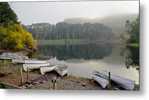 Glencorse Reflection. Metal Print