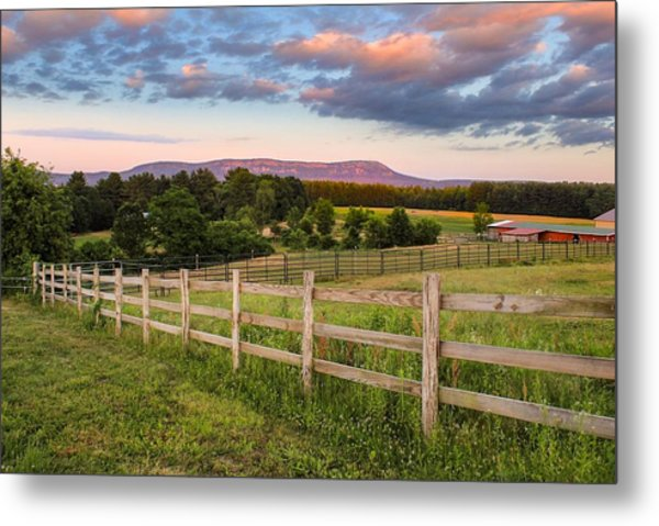 Metal Print featuring the photograph Glendale Road View Of Mount Tom by Sven Kielhorn