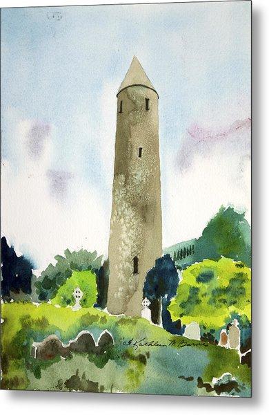 Glendalough Tower Metal Print