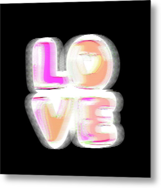 Metal Print featuring the digital art Glitch In Black by Bee-Bee Deigner