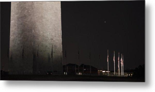Glmpse Of The Washington Monument Metal Print