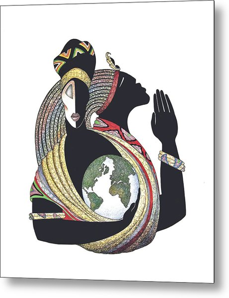 Global Love Metal Print by Albert and Simone Fennell