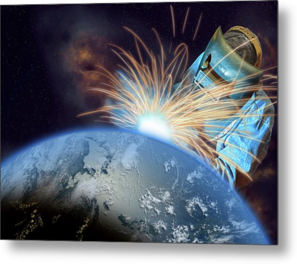 Global Meltdown Metal Print