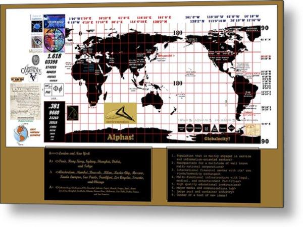 Globalocity Metal Print