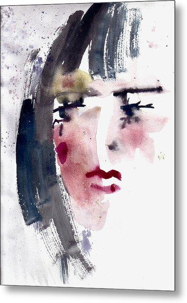 Gloomy Woman  Metal Print