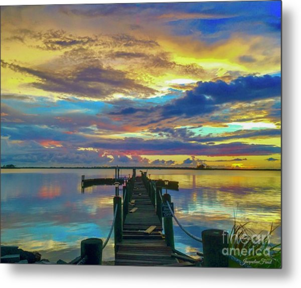 Glorious Dock Metal Print