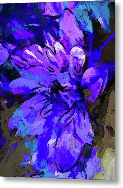 Glory Blue Metal Print