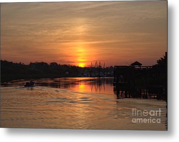 Glory Of The Morning On The Water Metal Print