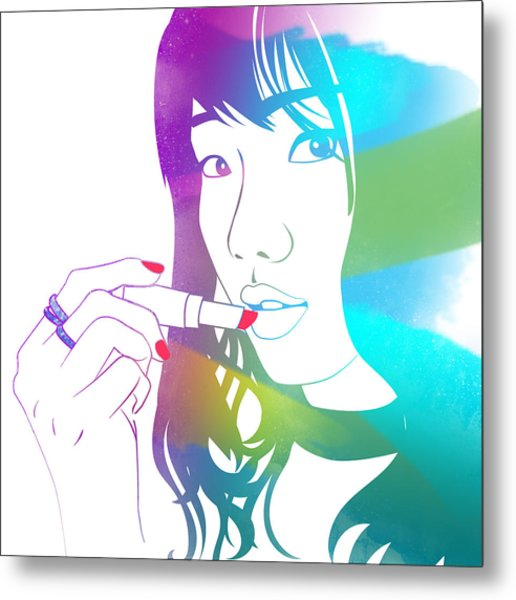 Glossy Girl Metal Print