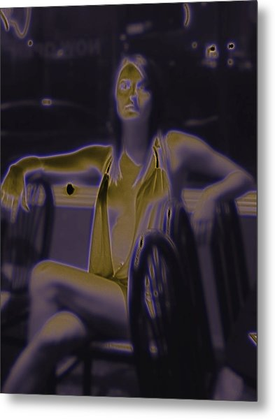 Glowing Brittney IIi Metal Print