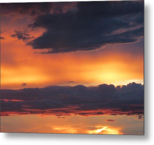 Glowing Clouds Metal Print